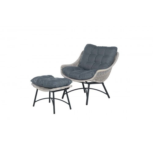 Lounge Stoel Met Hocker.Logan Lounge Chair Footrest V Willow I6mm Ref B