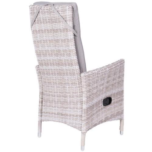 Cuba Loungeset Light Grey.Cuba Adjustable Fauteuil Luxurious Loungechair By Garden Impressions
